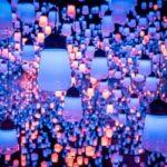 Purple lanterns at Teamlab Borderless in Tokyo