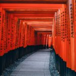The red gates of Fushimi Inari shrine in Kyoto