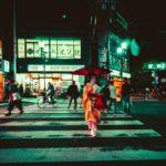 Geisha on streets of Kyoto
